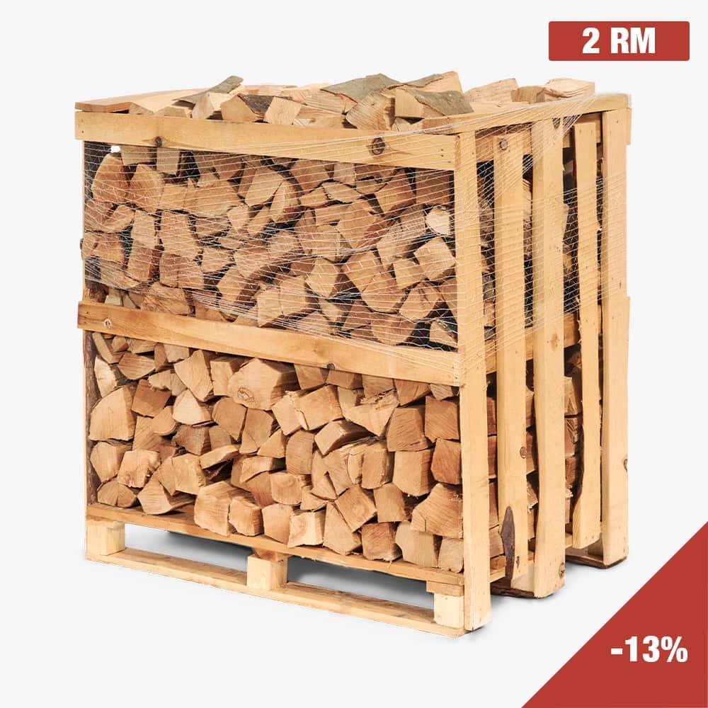 Kaminholz Breuer | Vorteilspaket 2 RM Buche | Kamingeflüster